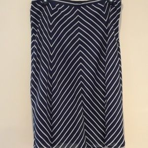 George Chevron A-line Skirt NWOT